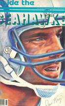 1986 inside the seattle seahawks football magazine dave krieg autograph ... - $9.99