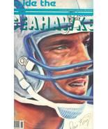 1986 inside the seattle seahawks football magazine dave krieg autograph ... - $9.99