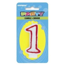 Unique Industries Molded Deluxe Birthday Celebration Candle # 1 Number One - $5.10