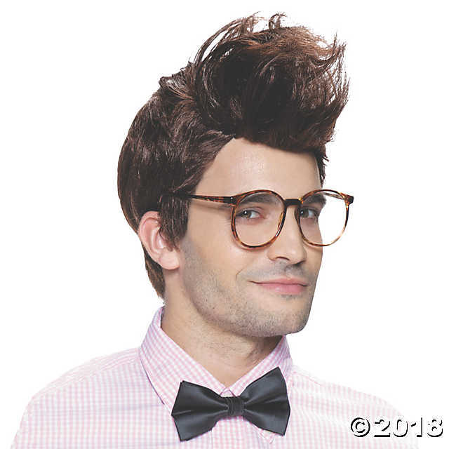 UHC Men's Hipster Wig Theme Party Adult Halloween Costume Accessory