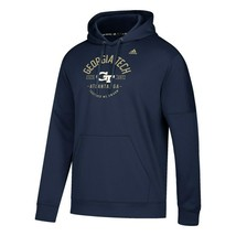 Adidas Georgia Tech Climalite Hoodie Sweatshirt Nwt Men's M, L, Xl Or Xxl $75 - $37.50