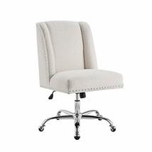 Linon Cream Sherpa Upholstered Swivel Chrome Base Clayton Office Chair - $322.20
