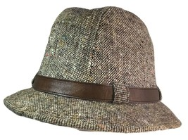 STETSON  Fedora Brown Hat With Brown Leather Strap Size 7  - $49.45
