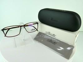 Silhouette SPX Illusion Fullrim 2893 6122 Vintage Leather 54-14 Eyeglass... - $90.20