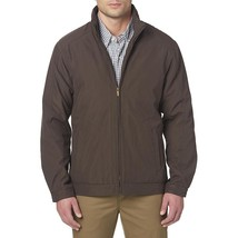 NWOT Basic Editions Men's Microfiber Jacket Small Coat Brown - $36.09