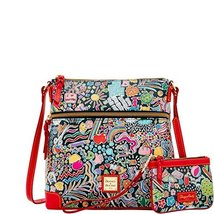 Dooney & Bourke Whimsy Crossbody & Med Wristlet Black Multi - $169.00