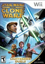 Star Wars the Clone Wars: Lightsaber Duels - Nintendo Wii W/Booklet - $1.97