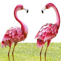 """Bits and Pieces - Set of Two 2 35 ½"""" Tall Metal Flamingo Garden Statues ... - €102,99 EUR"""