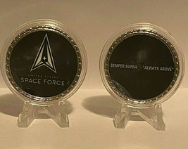 """Space Force Motto Semper Supra """"Always Above"""" Coin - $11.36"""
