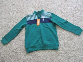 BNWT Gymboree 100% cotton, long sleeve pull over top, Boys, size 7, Green, $25 - $16.82
