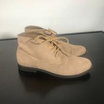 WHITE MOUNTAIN Women Sz 8.5 M, Tan Suede Ankle Desert Chukka Boots - £18.21 GBP