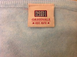 Faded Glory Originals Vintage V-Neck Baby Blue Long Sleeve Sweater image 5