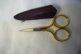 Pre Max Embroidery Scissors Gold Handle  2 3/4  in image 2