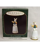 Hallmark Alice in Wonderland Miniature White Rabbit 3rd in Series 1997 K... - $7.37