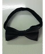 NAUTICA - BLACK  SILK-BLEND BOW TIE - ADJUSTABLE 4 x 1 3/4 ( small ) - $7.13