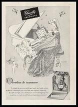 Piano Houbigant Chantilly Perfume 1944 Rowand Art Ad Unusual Girl Cupid - $14.99