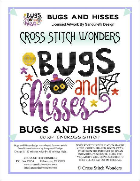 Primary image for Bugs and Hisses halloween cross stitch chart Cross Stitch Wonders