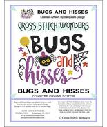 Bugs and Hisses halloween cross stitch chart Cross Stitch Wonders - $5.00