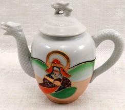 "Dragon Ware Tea Pot ""Mepoco Ware"" Japanese w/ creamer no lid image 3"