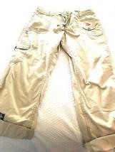 SAINT JOHNS BAY  Fit Straight Leg capri roll Womens Pants Beige Tan Khaki 12 NEW - $15.79