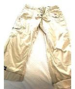 SAINT JOHNS BAY  Fit Straight Leg capri roll Womens Pants Beige Tan Khak... - $15.79
