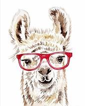 Hipster Watercolor Llama Print Art