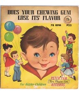 Does Your Chewing Gum Lose It's Flavor SLEEVE ONLY Peter Pan Records - $3.73