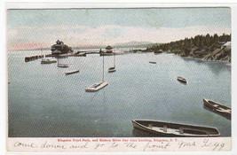 Steamer Landing Boat Harbor Kingston NY postcard - $5.94