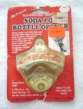 Drink Coca Cola Soda Pop Bottle Opener 1980 Sassy Brass Starr X  Vintage... - $19.99