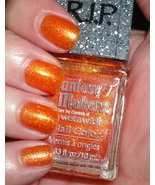 Fantasy Makers Creepy Pumpkin Orange Glitter Nail Polish RIP By Wet n Wild - $9.99