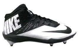Nike Football Cleats Men's Zoom Code Elite 3/4 D White Black men's size 15 - $24.70