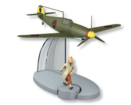 Tintin and King Ottokar's Sceptre The Bordurian BF-109 fighter plane
