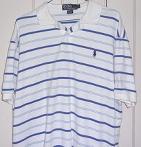 Polo By Ralph Lauren Mens Large Striped Short Sleeve Polo Shirt - $13.46