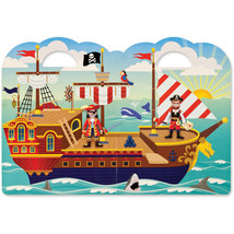 Melissa Doug Puffy Sticker Activity Book: Pirates - 51 Reusable Stickers - $26.98