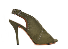 Givenchy Womens Khaki Green Suede Studded Crossover Sandals Sz IT36/US6~... - $451.25