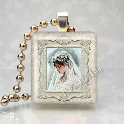 THE BRIDE - BRIDAL WEDDING Scrabble Tile Pendant Charm