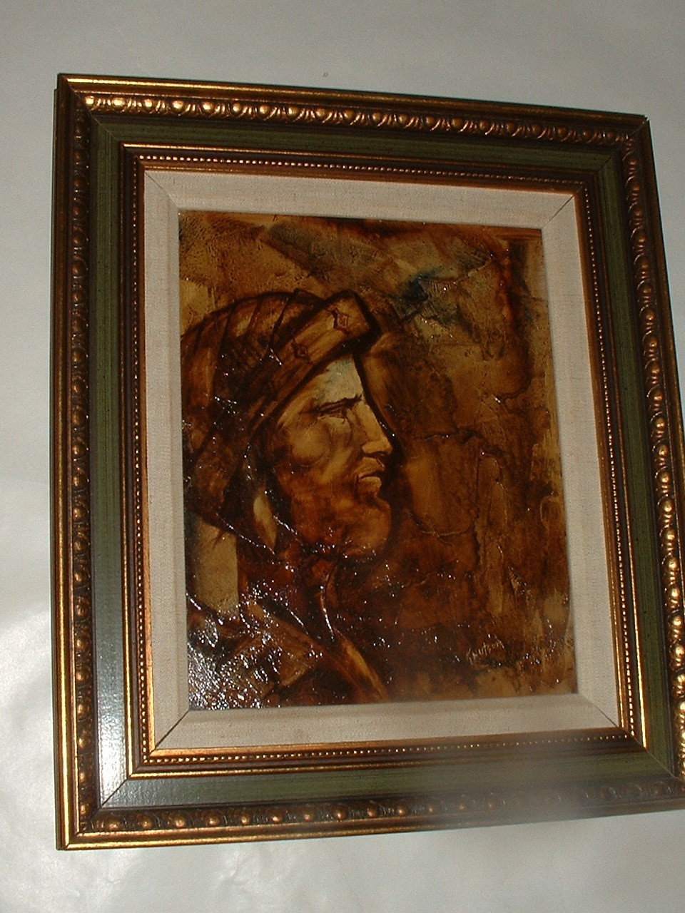 Vintage  Abstract Oil Painting by Artist Knutson
