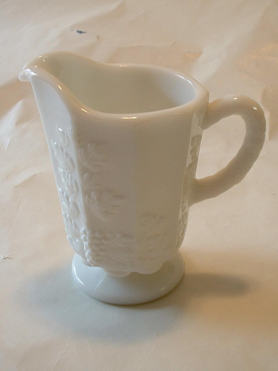 Vintage Milk Glass Creamer by Westmoreland