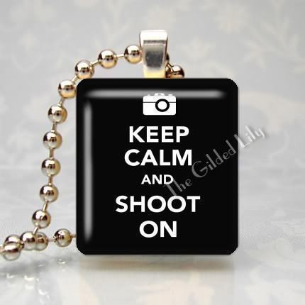 KEEP CALM AND SHOOT ON - PHOTOGRAPHERS Scrabble Pendant
