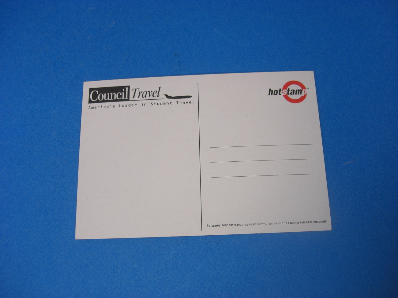 Council Travel Hot Stamp Postcard