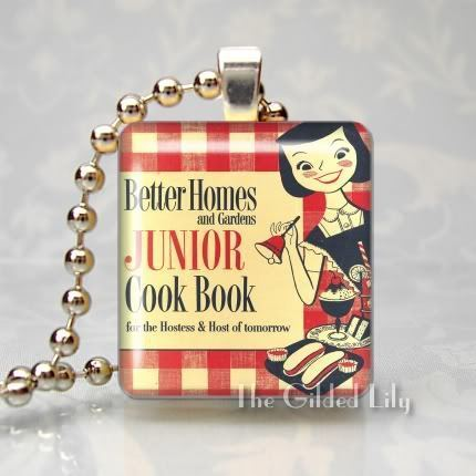 BETTER HOMES & GARDENS JUNIOR COOKBOOK Scrabble Pendant