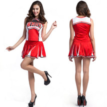 Halloween Women Sexy Uniform Cheerleader Costume Fancy Dress - $30.78