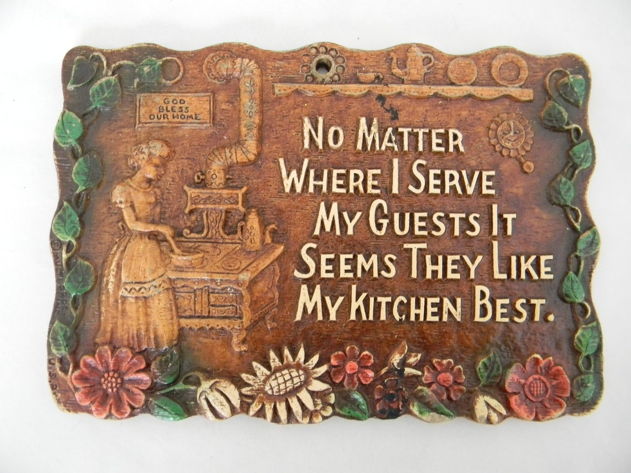 Vintage Kitchen Wall Plaque