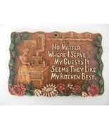 Vintage Kitchen Wall Plaque - $15.00