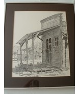 Original Ink Drawing / Watercolor signed by Artist Rose Mary Goodson - $225.00