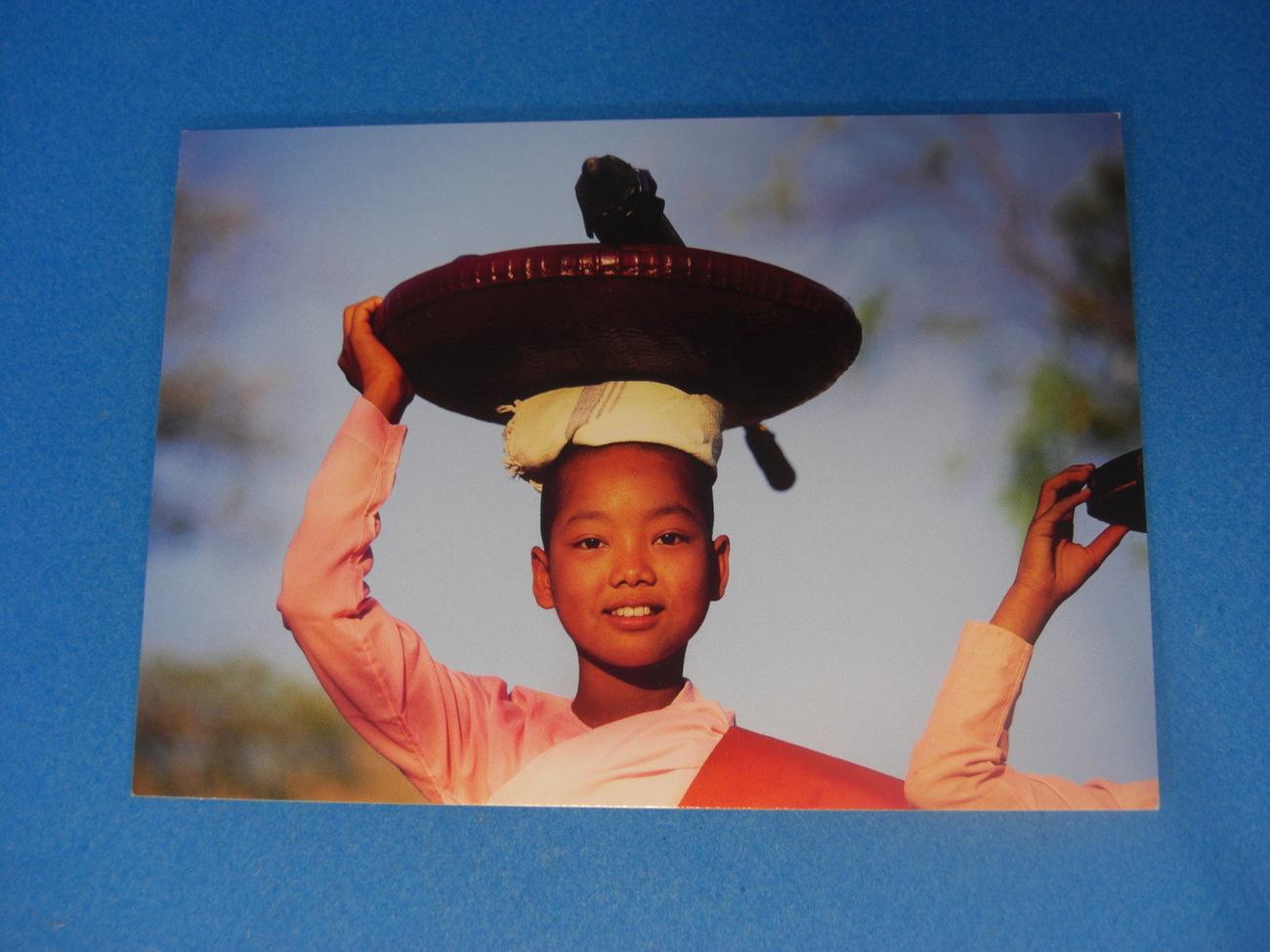 Novice Nun Carrying a Basquet Postcard by Frans Lemmens