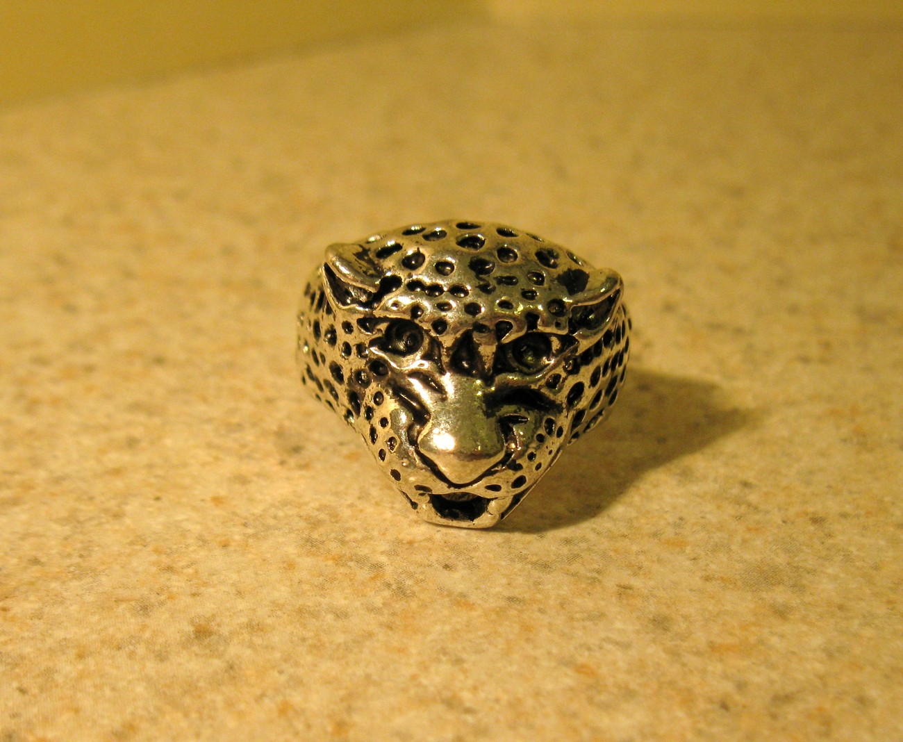 RING MEN WOMEN UNISEX STAINLESS STEEL SILVER LEOPARD 11 #73