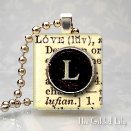 LOVE - DICTIONARY WORD DEFINITION - Scrabble Pendant