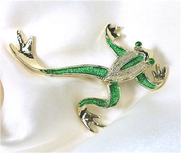 Primary image for Gerry's Brand Enameled Green & Goldtone Tree Frog Pin