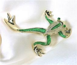 Gerry's Brand Enameled Green & Goldtone Tree Frog Pin - $15.00